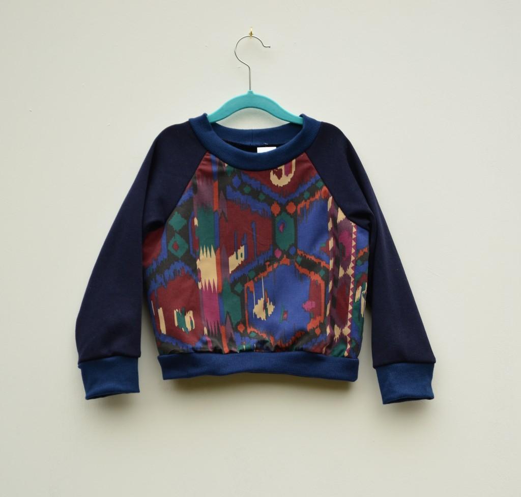 burgundy aztec print jumper