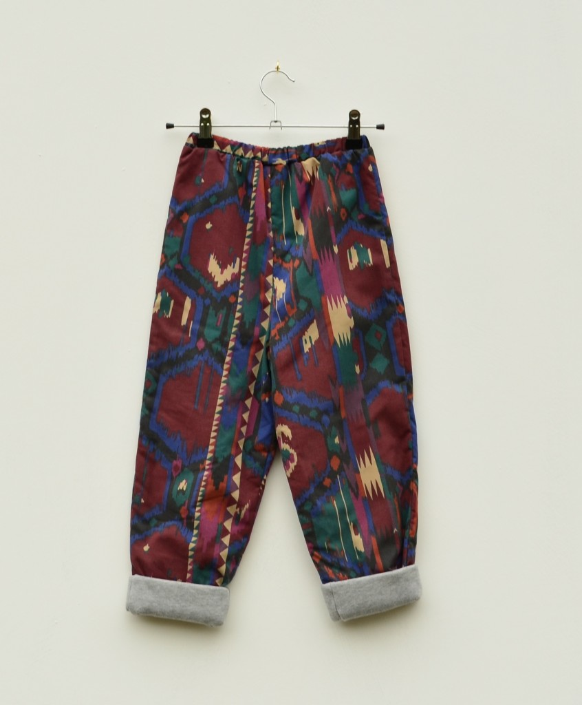 Burgundy Aztec Kids Trousers Lined