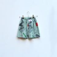 green 80s kids skirt