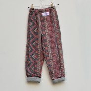 cosy aztec print kids trousers