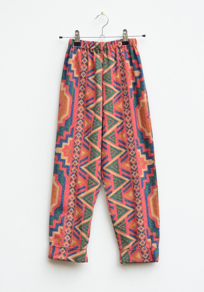 orange aztec kids trousers