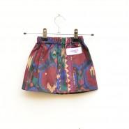 burgundy aztec print baby skirt
