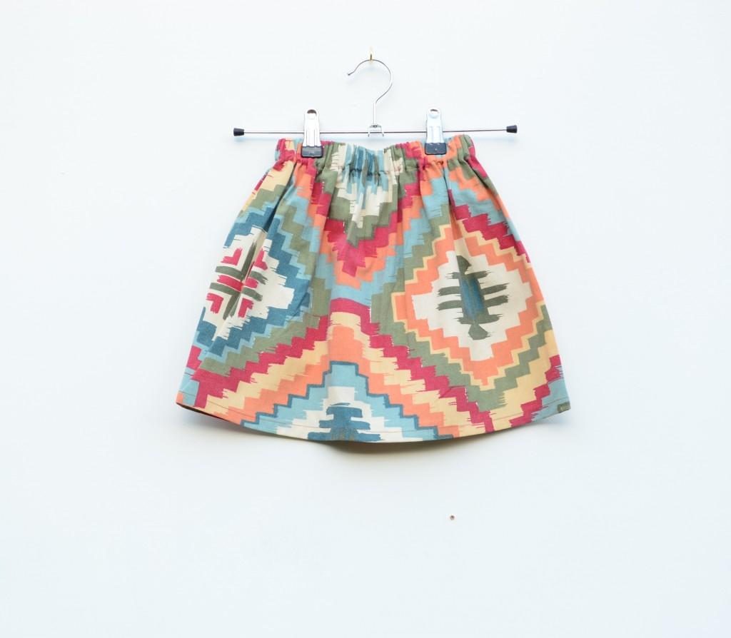 aztec print kids trousers