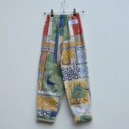 vintage print kids trousers