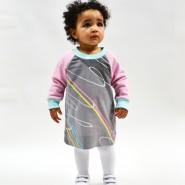 80s Pastel Baby Dress