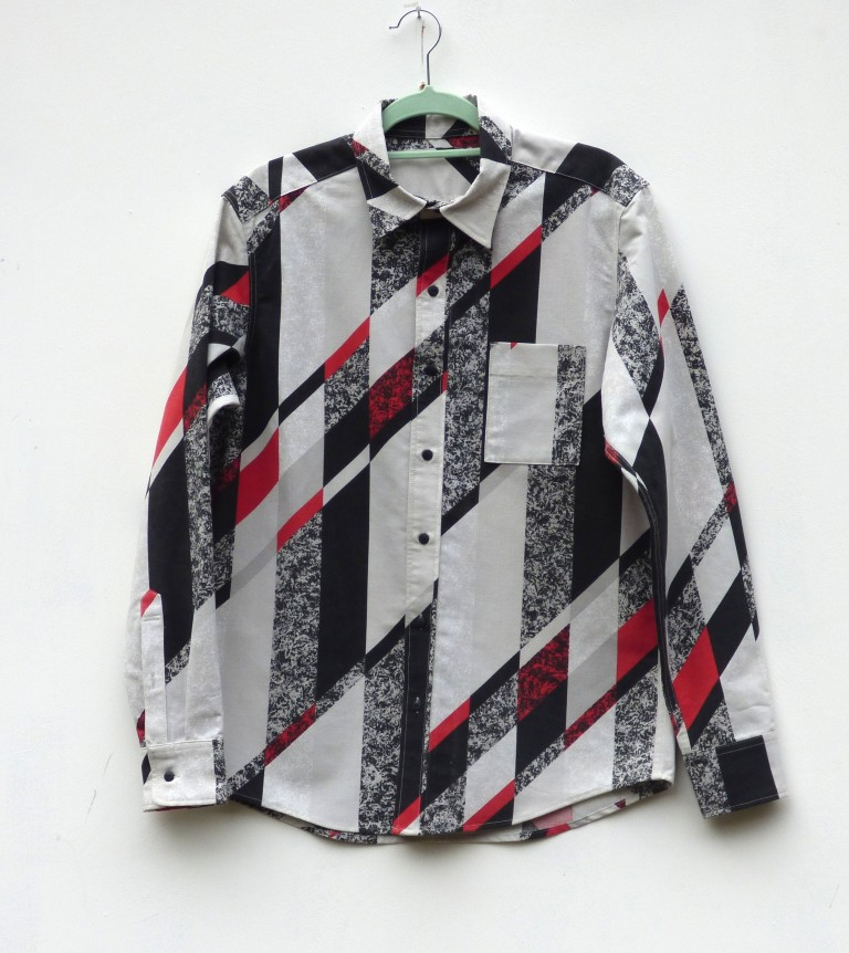 80s print long sleeve shirt