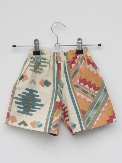 aztec print kids shorts