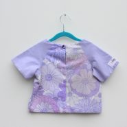 lilac floral crop t back