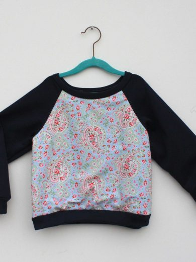 baby blue paisley jumper