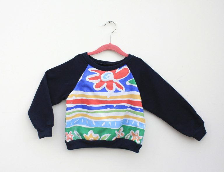 kids flower and striped jumper
