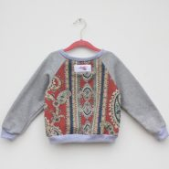 kids paisley jumper back grey sleeves