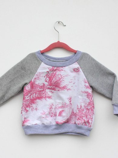 pink and white scene jumper